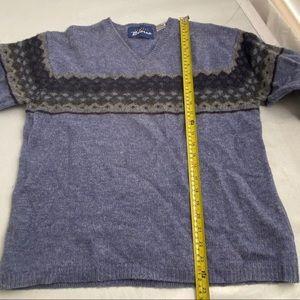 Express Sweaters - Express Bleus blue/navy/gray wool sweater L